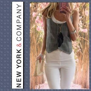 NWT. New York & Co. Glen Plaid Vest